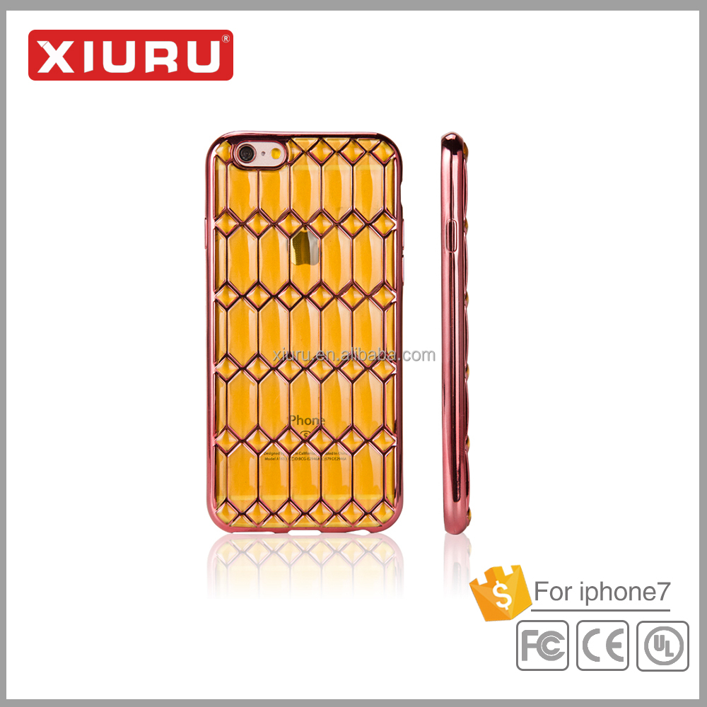 TPU Mobile Phone case cover Smart Phone case electroplated tpu case for Iphone