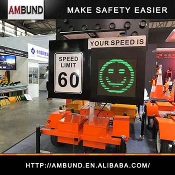 Compact Radar Speed Trailer Traffic Flashing Radar Speed Limit LED Signs