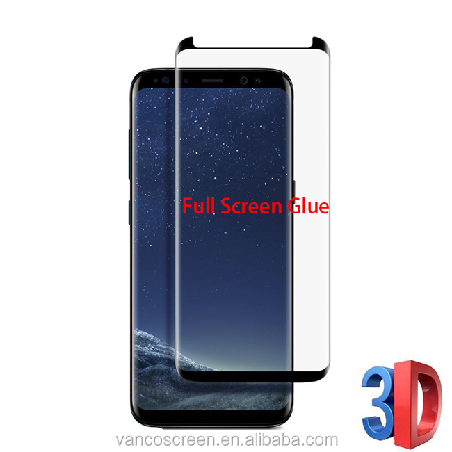 Anti Scratch S8 Plus Full Glue Tempered Glass Screen Protector For Mobile Phone