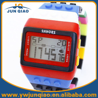 2015 Shhors brand silicone strap toy bricks block led kids toys watches