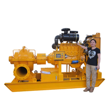 High capacity farm water pump with diesel engine