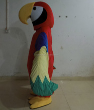 Carnival red fur customized adult parrot mascot costume