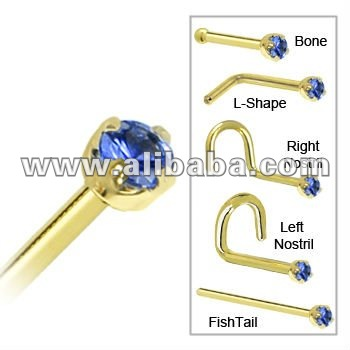 9k Real Gold Nose Stud with Opal