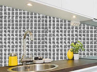 modern house diamond mosaic tile 13 face iridescent glass mosaic tile