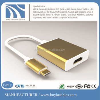 KUYIA 4k*2k TYPE C/USB 3.1 to HDMI Adapter Cable for Mac Book