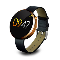 "A9 smart watch with music player, 1.22"" round touch screen ce rohs smart watch, bluetooth 3.0 4.0 OEM watch"