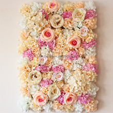 silk flower wedding flower wall backdrop