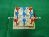 Tic Tac Toe/tic tac toe wooden board game set/ tic tac toe wooden board game