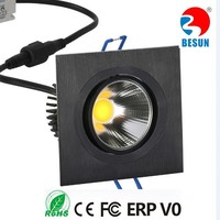 High voltage CE ROHS ERP V0 approved Ra90-97 7600lm Square 2X40W COB LED Ceiling Light