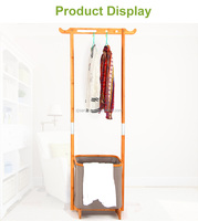 Modern Fashionable Bathroom Towel Bamboo Clothes Rack Laundry Basket