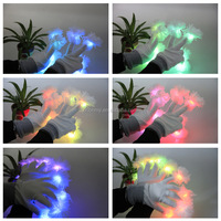 dance party festival multi color light led glow Finger Led Gloves factory