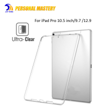 for ipad pro 10.5 inch case cover 2017 New Model Clear Shockproof Soft Flexible Transparent TPU Back Cover 9.7 inch 12.9 inch