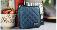 Fashion Blue 32 Capacity 230D Space Twill PVC Fabric CD Holder personalized cd case multi disc dvd cases