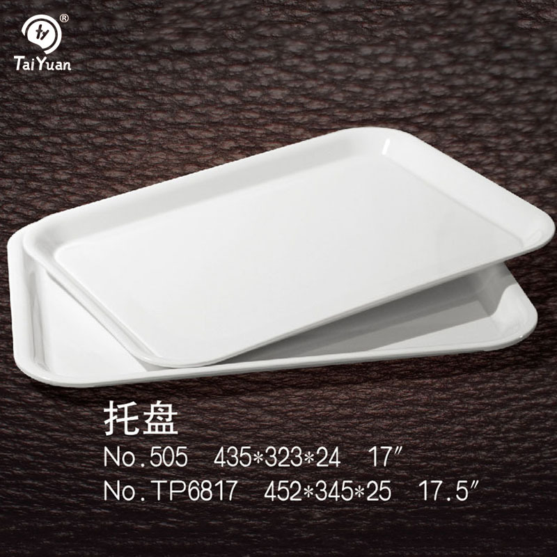 wholesale cheap square melamine plastic tray