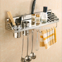 Economic Wall Mounted Spice Rack Metal Kitchen Tool Holder Utensil Spice Holder