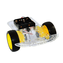 2WD Smart Car Robot Chassis for Arduinos with Motor Speed Encoder Battery Holder