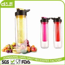 Various styles infuser plastic water bottle