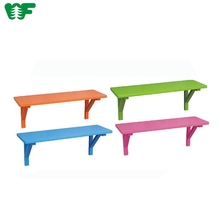 Colorful Living Room Decorative Fashion Design Mounted Wooden Wall Shelf