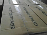 Coconut cream powder 45% +/- 5% in 15kgs carton box packaging with inner plastic liner