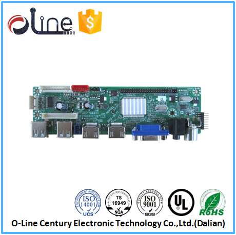 High-tech 2 layer Lead free FR-4 lcd tv spare parts