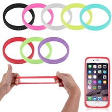 Soft Silicon Elastic Luminous Wristband Common Use Bumper Universal Phone Case for iPhone/Samsung