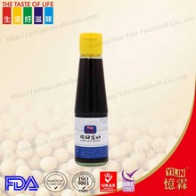 BRC certificated natural brewed non - gmo 200ml glass bottle packed chinese dark soy sauce made in China