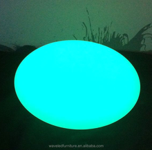 Colors changing LED outdoor decoration flat ball waterproof pool led lighting flat ball