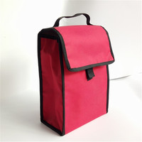 custom red oxford cooler bag student protable thermal lunch bag