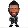 Custom NFL mini bobblehead toy action figure blister card packaging/bobble head spring pvc toys/custom made pvc figure toy