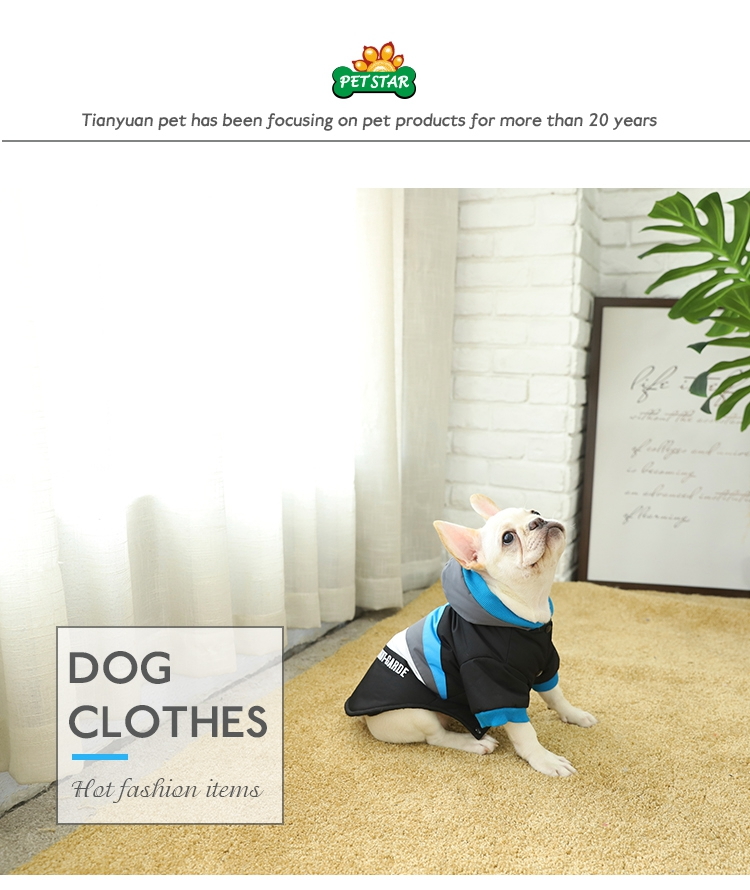Tianyuan Pet Small Dogs Wear Jacket,Black Hotselling Dog Clothes For Dogs