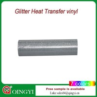2015 China Qiying hot sales Glitter heat transfer vinyl/film