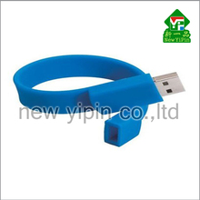 2016 Factory direct promotion silicone bracelet USB flash drive