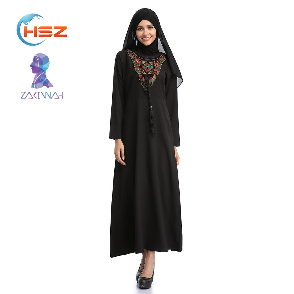 Zakiyyah 070 Flower Embroidery Pathani Dress Islamic Thobe Brands Kurta Image in Saudi Kuwait Abaya