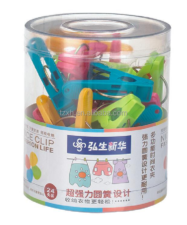 New high quality Colorful plastic pegs and clips for hanging clothes