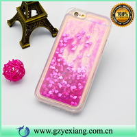 Pink Color Mobile Phone Moving Glitter Case For Iphone 5 5S Liquid Back Cover
