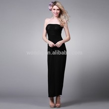 Modal Tube Quality Vetement Femme Dress For Ladies Dress Black With Wrinkle Y164