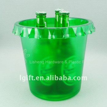 Plastic Ice Bucket with cover shape