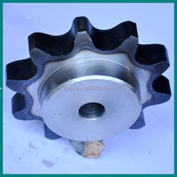1045 steel standard industrial chain sprocket with bush for mini green bean harvester from China manufacturer