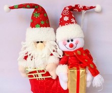 Europe and America popular christmas decoration christmas ornaments christmas outdoor plush musica cloth doll