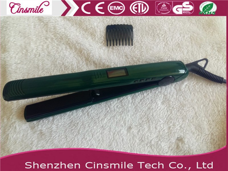 2017 newProfessional Manufacturer Wholesale private label flat iron with vibration function and Ionic
