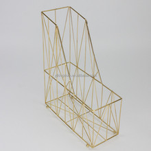 550-24 metal wire office file organizer rack with gold-plating
