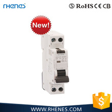 New model fine appearance 1P+N Single Pole 6KA RCBO Circuit Breaker factory