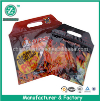 Hot Roast Chicken Bags/Food standing plastic ziplock bag roast meat packaging(zzfp123)