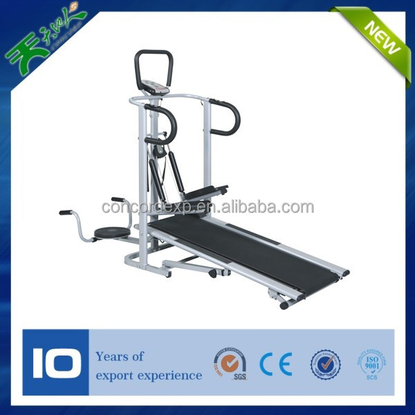 2014 new style whole body exercise asia 4 in 1 manual treadmill