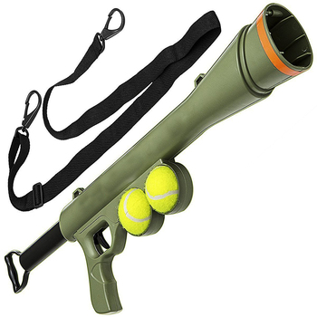 Funny Pet launcher gun toys with dog chew squeaky tennis balls