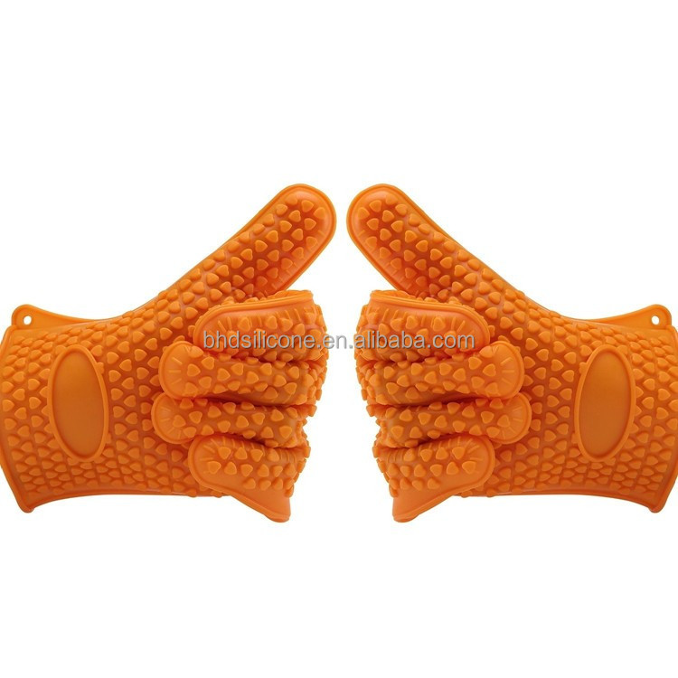 Heat Resistant Silicone Oven Gloves Potholders,BBQ Gloves