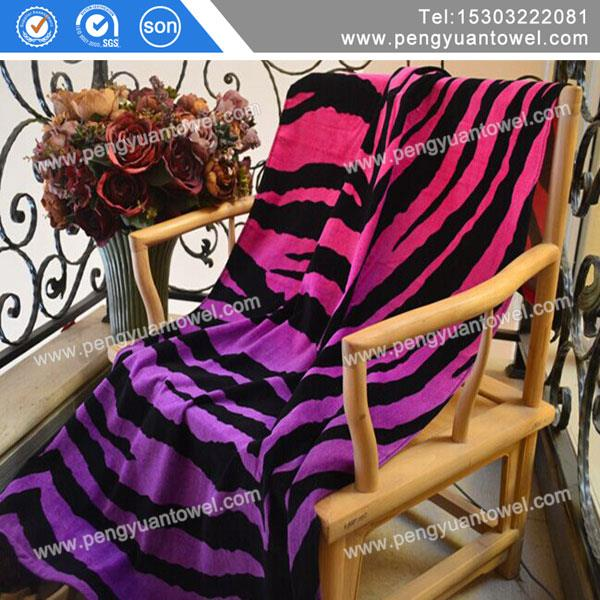 2014 high quality personalized cheap black and white striped beach towel wholesale
