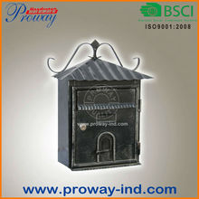 wall mounted cast iron mailbox made in china