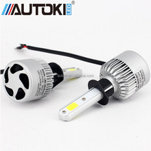 AUTOKI 72W H1 H3 H4 H8/H9/H11 9005 COB LED Car Headlight Bulb 6500K 8000lm Led Headlights Fog Light Auto Led Headlamp 12v 24v