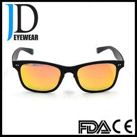 2016 Hot Sell Square Yellow lens Black Frame Carbon Fiber Sunglasses for Men
